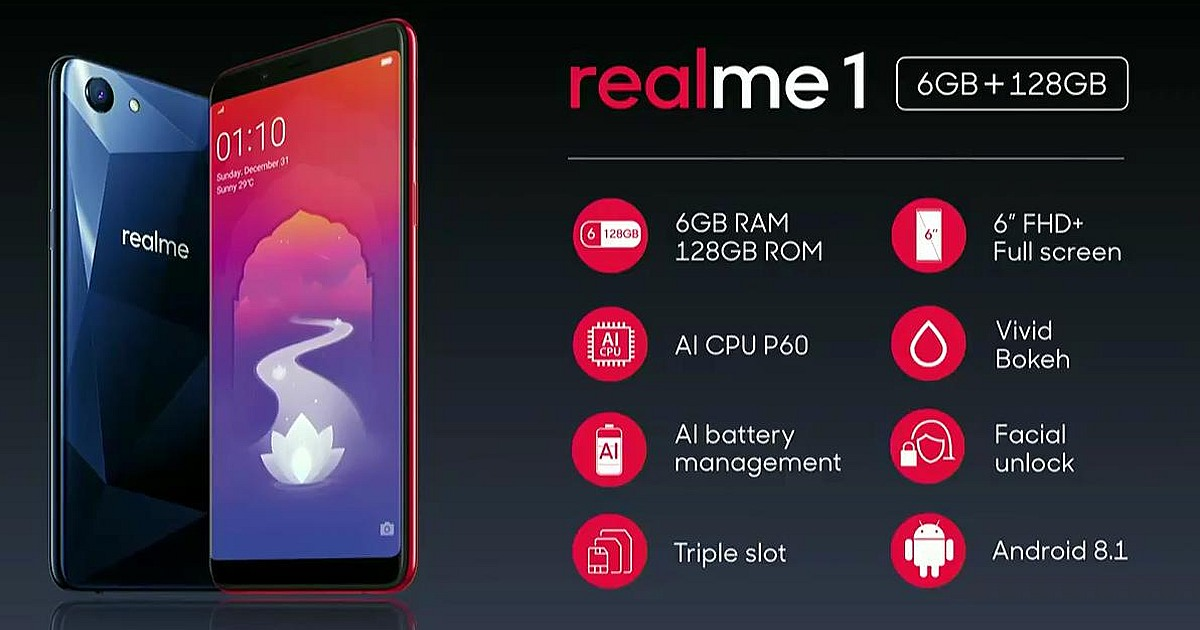 OPPO Realme 1 Is Here for The Youth